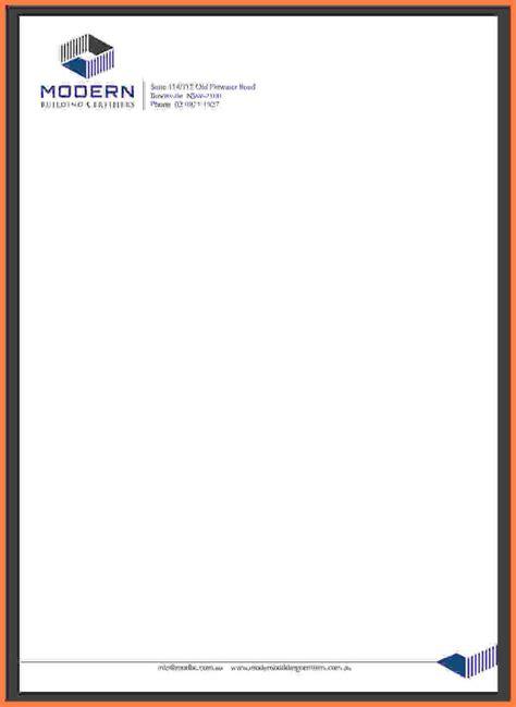 professional company letterhead template company
