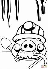 Coloring Pig Angry Birds Pages Chest Moustache Treasure Mustache Drawing Open Printable Foreman Characters Supercoloring Template Cartoon Getdrawings Categories sketch template