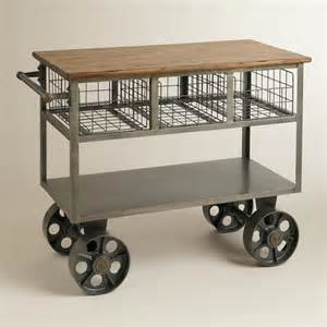 kitchen cart and islands bryant mobile kitchen cart industrial kitchen islands and kitchen carts by cost plus world