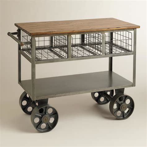 kitchen island carts on wheels bryant mobile kitchen cart industrial kitchen islands and kitchen carts by cost plus world