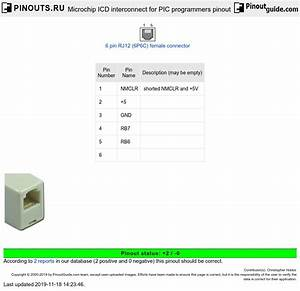 Microchip Icd Interconnect For Pic Programmers Pinout