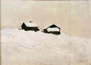 Häuser In Norwegen : kunstdruck h user im schnee in norwegen von monet claude ~ Buech-reservation.com Haus und Dekorationen