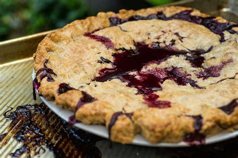 blueberry pie   cornmeal crust recipe nyt cooking