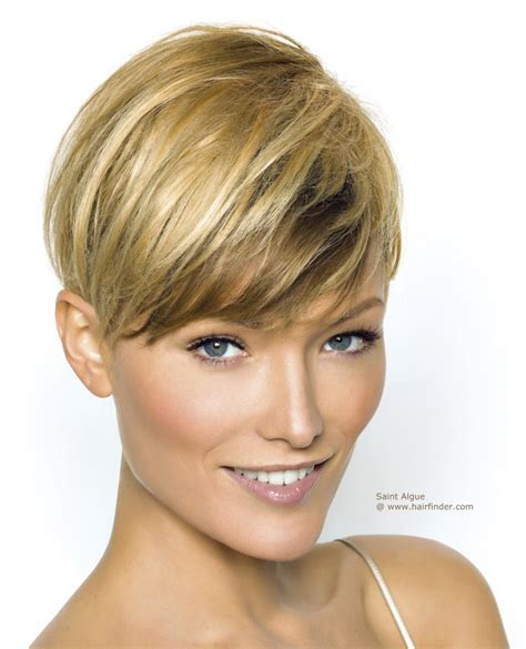 Short haircut with the length above the ear and an ultra