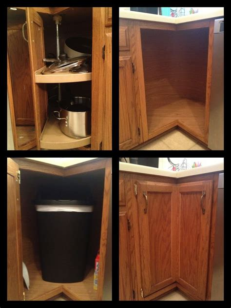 broken lazy susan turned   trash  compartment