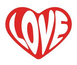 Heart with Word Love