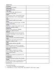 Med Surg Report Sheet Templates Alfa Img Showing Gt Sheets Ems Patient Assessment