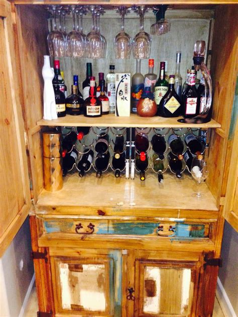 armoire cabinet into a bar diy bar from tv armoire just b cause