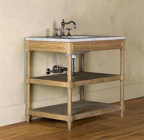 weathered oak single washstand base