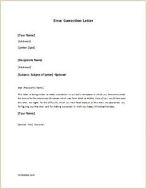 error correction letter writelettercom