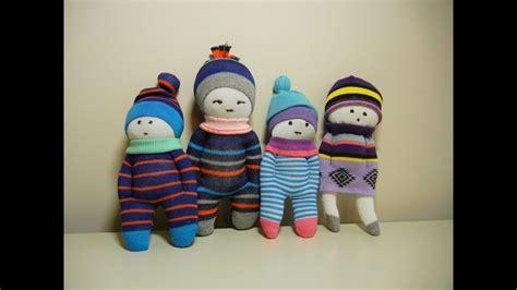 cute sock dolls diy stuffed toys easy  fast youtube