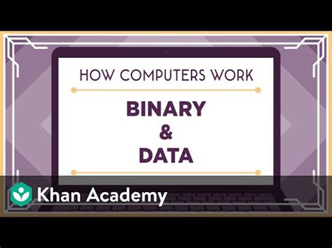 Total Class From Total Environment by Binary Data How Computers Work Khan Academy