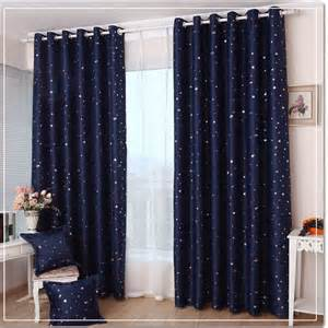 ikea style dark blue gypsophila blackout curtain