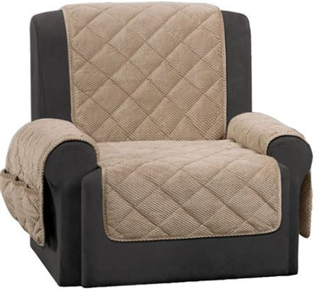 sure fit recliner furniture cover with textured pique