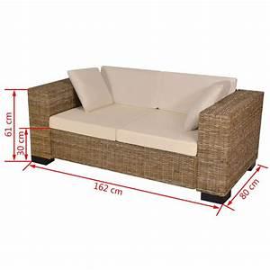 Rattan Sofa 2 Sitzer : vidaxl 7 tlg 2 sitzer sofa set echtes rattan g nstig ~ Whattoseeinmadrid.com Haus und Dekorationen