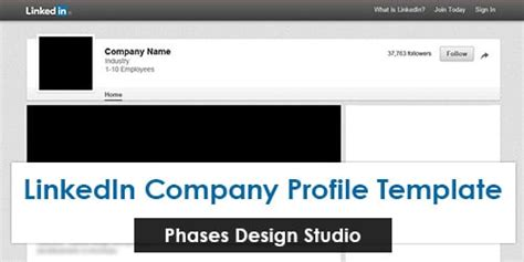 linkedin template linkedin company profile template
