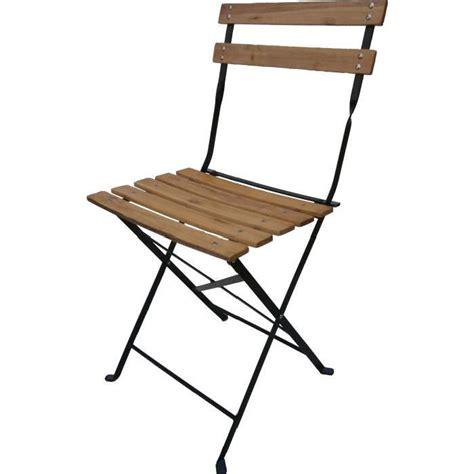 chaise de jardin bois 4 chaises pliantes bistro bois achat vente fauteuil