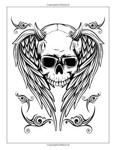very awesome | Skull coloring pages, Adult colouring