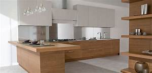 Modern kitchens in wooden finish allarchitecturedesigns for Kitchen cabinet trends 2018 combined with beauty salon wall art