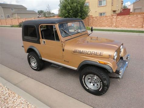 Sell Used 1982 Jeep Cj7 Jamboree 282 Factory Ac Hard