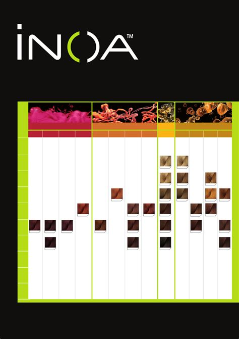inoa color chart inoa color chart for free page 4 formtemplate