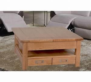 Table Salon Carrée : table basse carree chene massif 6808 ~ Teatrodelosmanantiales.com Idées de Décoration