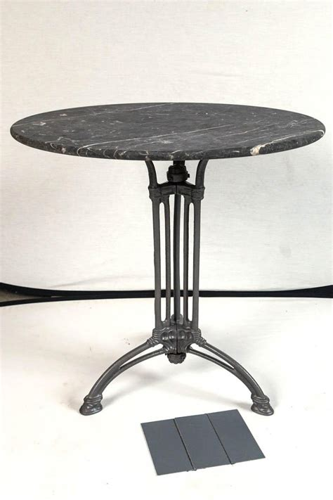 french marble top cast iron bistro table circa