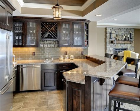 basement kitchen design 45 amazing luxury finished basement ideas home 1496