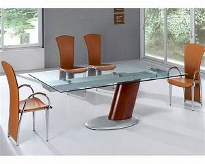 modern dining set glass top table european design 33d241 With modern glass dining room tables