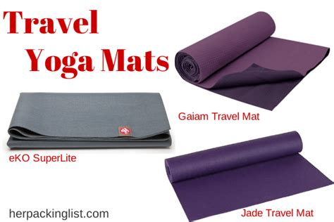 Traveling With Travel Yoga Mats