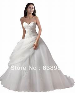george bride elegant strapless ball gown satin wedding With strapless satin wedding dress