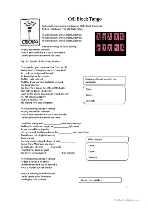cell block worksheet free esl printable worksheets