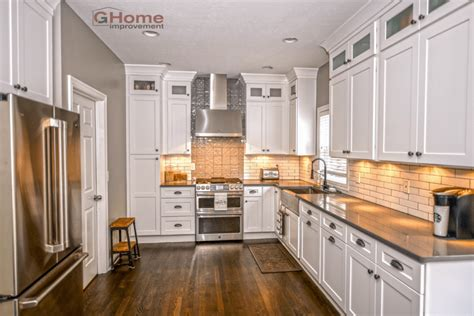 gray kitchen floors with oak cabinets kitchen remodel with grey cabinets www
