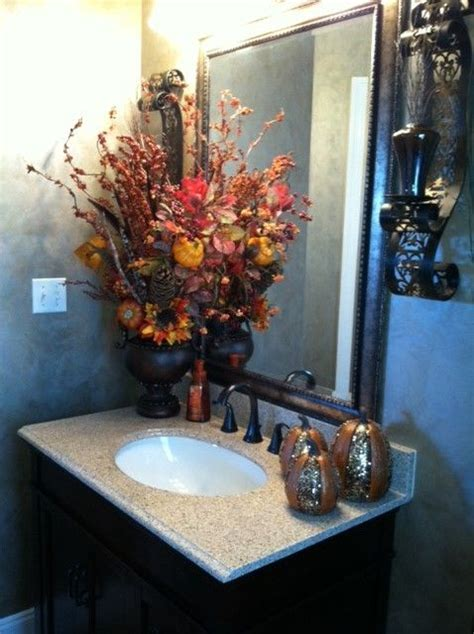 fall bathroom decorating ideas easy diy ideas  involvery