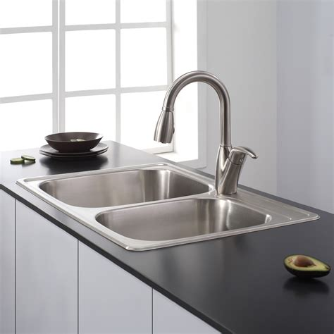 best stainless steel sinks sinks astonishing top mount stainless steel sink kohler