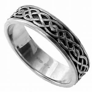 silver celtic twist wedding ring With celtic silver wedding rings