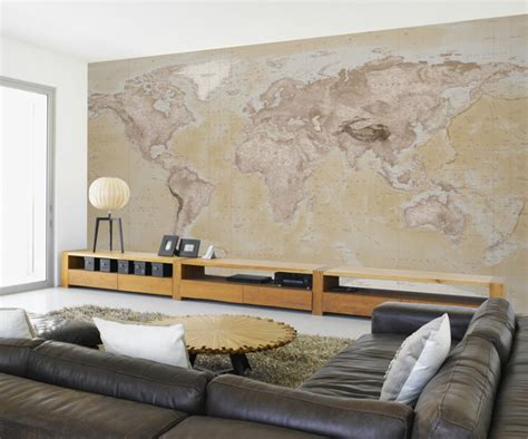 wall map mural neutral