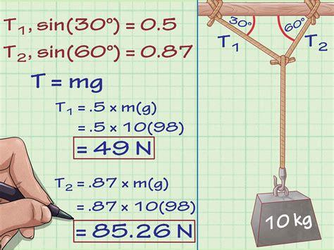 como calcular la tension en la fisica  pasos