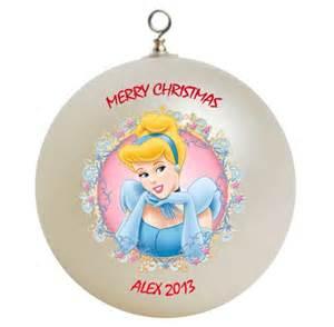 disney cinderella personalized custom christmas ornament 2 customgifts seasonal on artfire