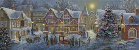 christmas village panoramic fine art print by nicky boehme