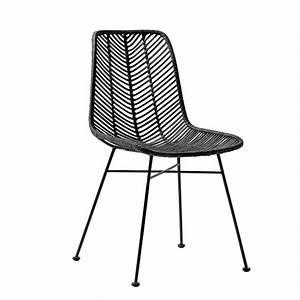 Chaise Rotin Noir : bloomingville chaise lena rotin noir bloomingville petite lily interiors ~ Teatrodelosmanantiales.com Idées de Décoration