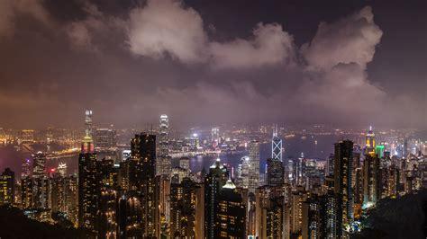 downaload night cityscape skyscrapers metropolis