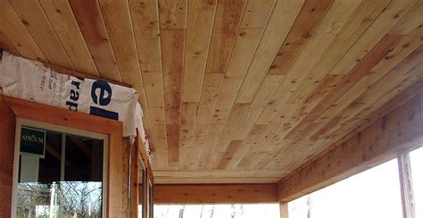Cedar Porch Ceiling by Buffalo Lumber Stk Mill Select Knotty Pictures Grade