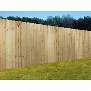 Shop Wood Fencing 6x8 Prime Dog Ear Panel Fence with 5-1/2