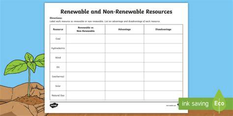 renewable and non renewable energy worksheet renewable vs non renewable worksheet worksheet earth