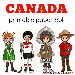 Canadian Dress-Up Paper Doll: Printable Template with