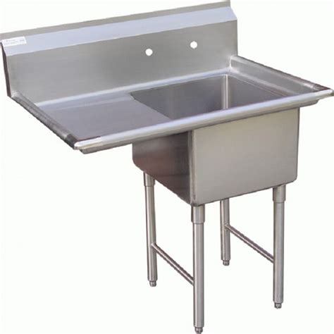 stainless utility sink with drainboard gsw se18181l one compartment stainless prep sink w left