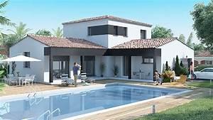 modele de maison moderne plans de maison plan de maison With charming modele de maison en l 1 maison moderne en u