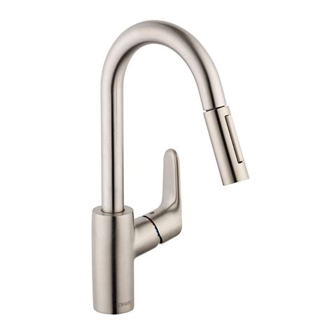 hansgrohe kitchen faucet hansgrohe focus prep single handle pull sprayer