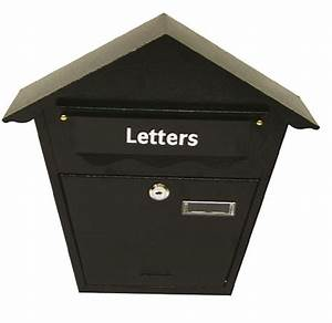 ashley black steel mail letter package lock secure outdoor With secure mail letter boxes